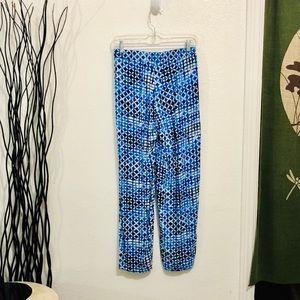 JM Collection Shibori Design Pants Petite Small
